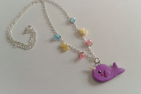 Kawaii Narwhal Necklace.