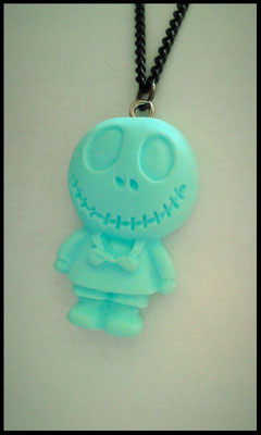 Pastel Skull Doll Necklace - Green