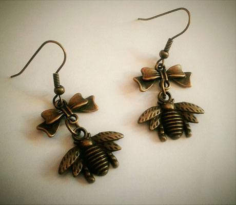 Steampunk Bee Earrings