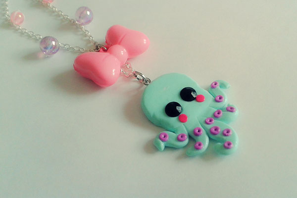 Kawaii Octopus Necklace.