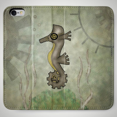 Steampunk Seahorse Mobile Wallets