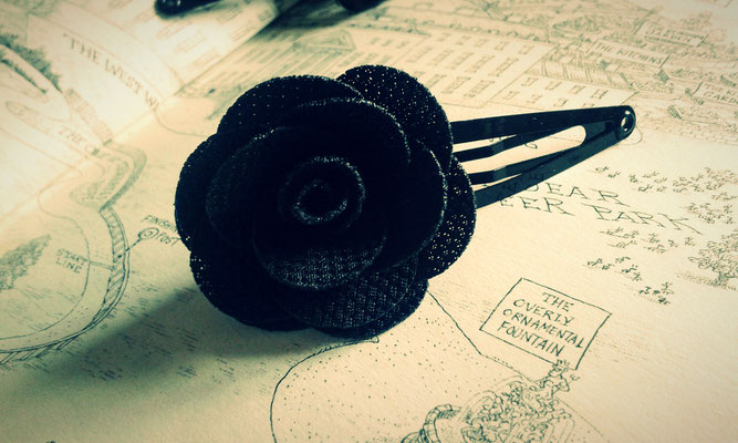 Steampunk Rose Hair-Clip