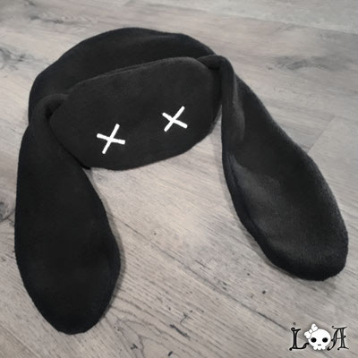 Creepy Cute Bunny Hat in Black