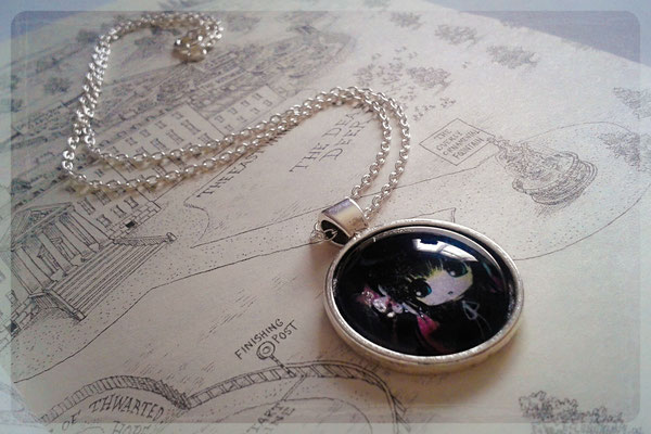 Cute Gothic Girl Bubble Necklace