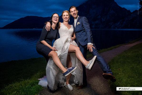Wenn die Braut solche Schuhe trägt! Dann mach ich das auch! :-)