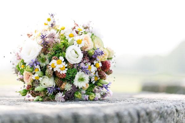 Auch der Brautstrauß wurde von Anna Pichler gezaubert