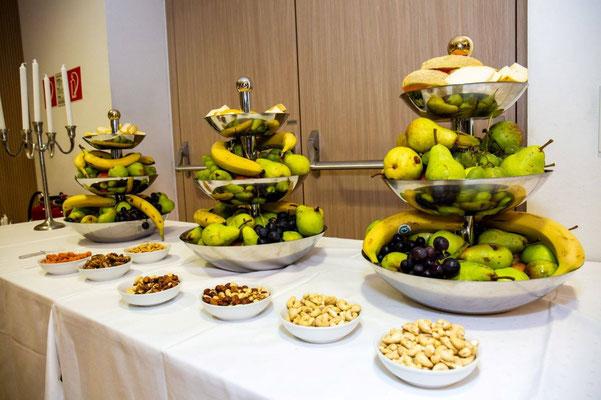 Obst und Nussvariationen sorgten für Erfrischung