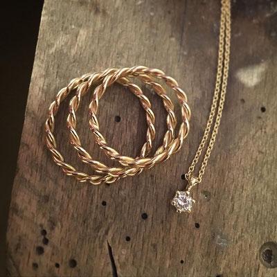 Umarbeitung: 585 Gold und Brillant von Kundin