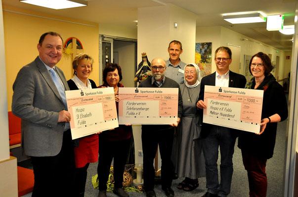 Übergabe der Spenden des NHV an die Hospizarbeit in Fulda