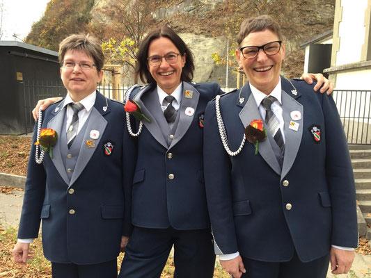 Veteranen 2018: Susanne Jost, Myrtha Berger, Ursula Allemann (alle Eidg. Veteraninnen)