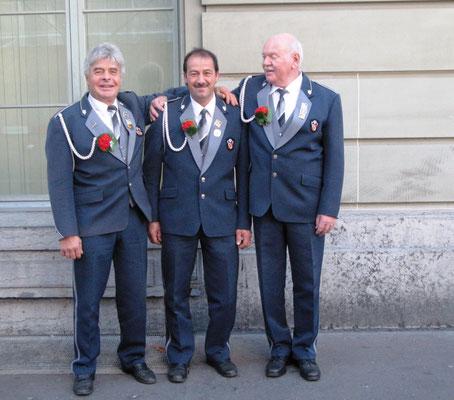 Veteranen v.l.n.r.: Fritz Christen, Fritz Bieri, Hanspeter Aegerter