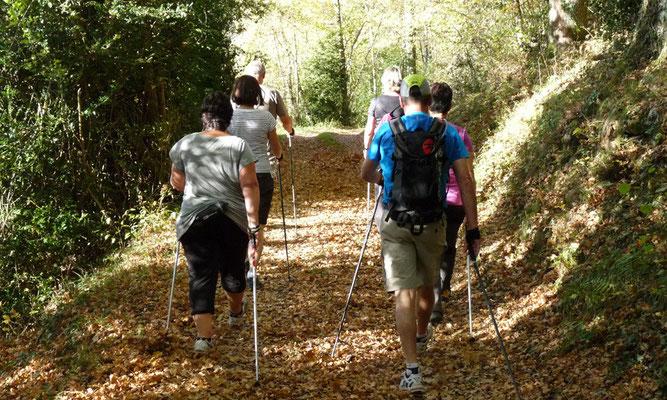 marche nordique à l'oppidum de Montsérié