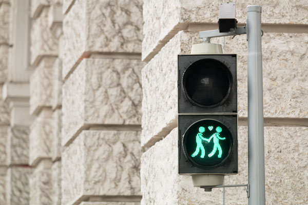 Traffic light Vienna for more tolerance Copyright Muellek Josef