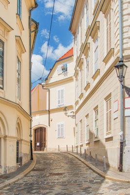 Old Street in the historic Upper Zagreb, capital of Croatia - Copyright iascic