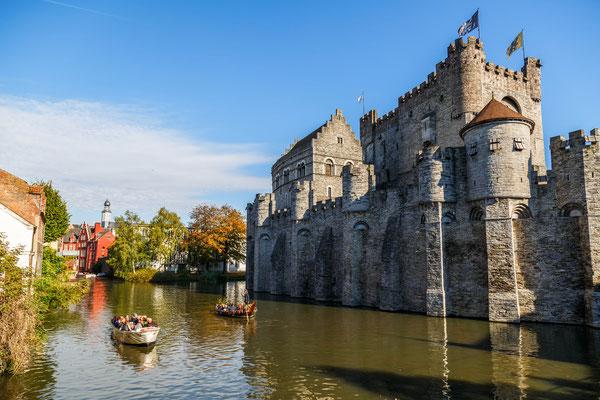 Ghent Castle boat copyright Editorial Shutterstock Koverninska Olga