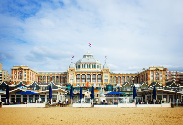 Kurhaus in Scheveningen of Hague, Holland, retro toned by Neirfy