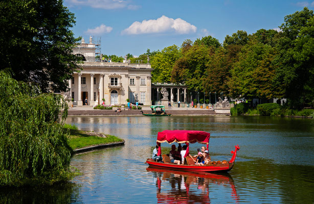 Lazienki or Royal Baths park in Warsaw in Poland Copyright badahos