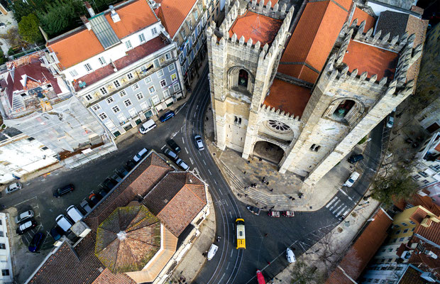 Santa Maria Maior (or Se Cathedral) the oldest church in the city of Lisbon, Portugal - Copyright Gustavo Frazao