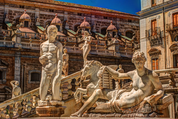 Sicily - European Best Destinations - Fountain of the Shame in Palermo Copyright Romas_Photo