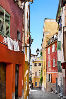 The streets of old Nice. France. Copyright Artens