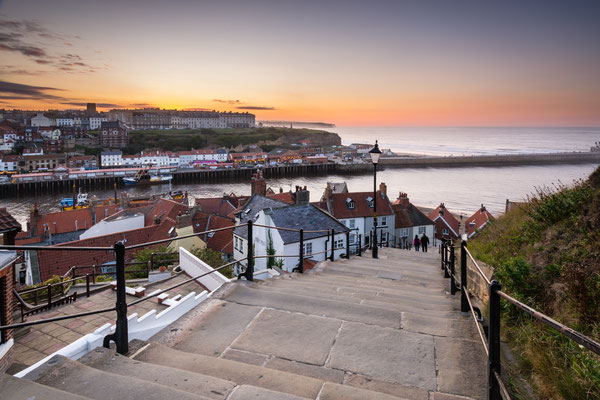 Whitby's 199 Steps The famous 199 Steps at Whitby leading from the town up to the Abbey and church Copyright Dave Head