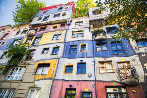 The view of Hundertwasser house in Vienna, Austria Copyright Kemal Taner
