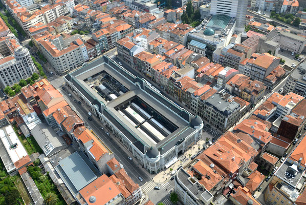 Aerial view of the Bolhao Market, Porto, Portugal © European Best Destinations