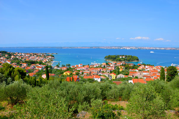 View of Preko and Zadar from the fortress of Ugljan Island - Copyright Matthieu Cadiou / European Best Destinations