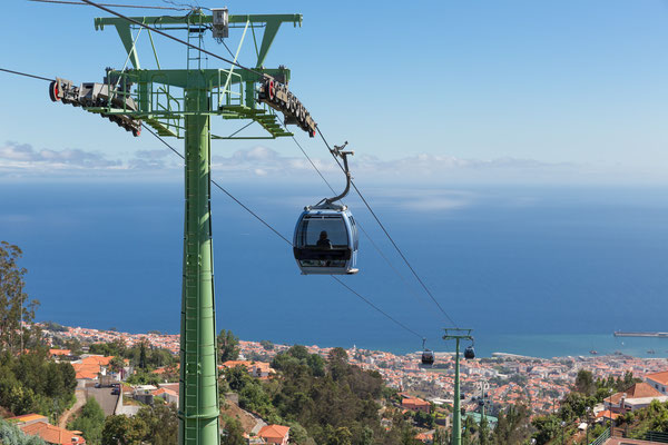 Cable car to Monte, Funchal, Madeira Island, Portugal - Copyright T.W. van Urk