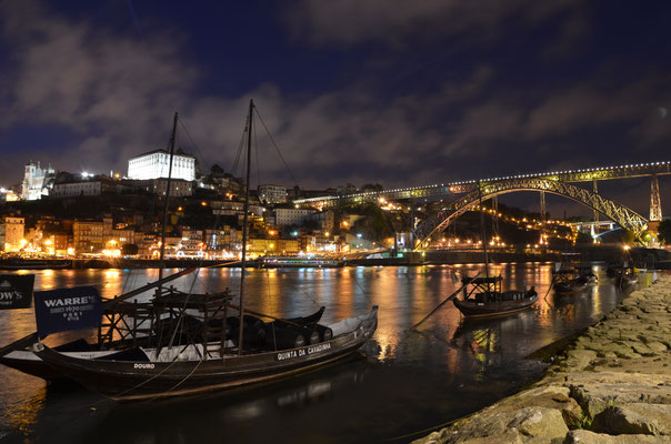 Porto at night from Cais de Gaia, Porto, Portugal © European Best Destinations