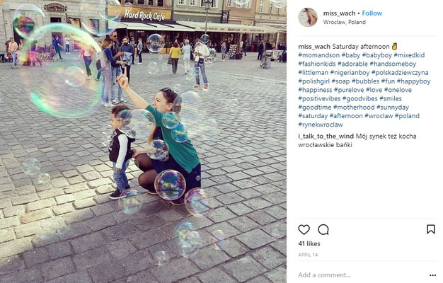 Giant soap Bubbles in Wroclaw - Copyright Miss_Wach