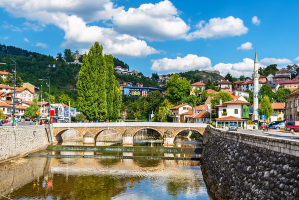 View of Vijecnica bridge in Sarajevo - Bosnia and Herzegovina copyright Leonid Andronov