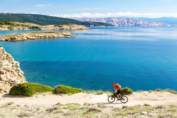 Mountain biker riding in Croatia -Copyright Blazej Lyjak