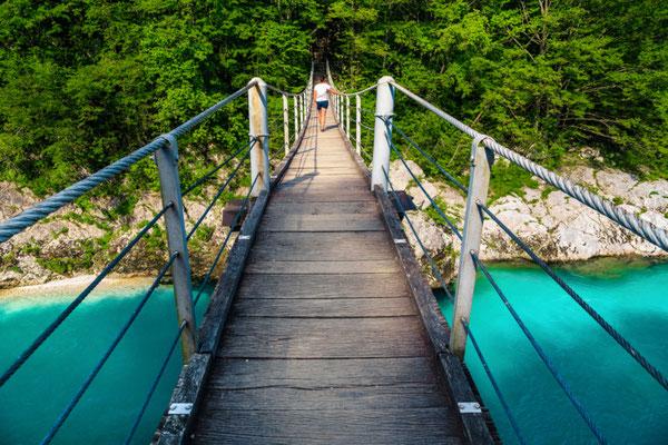 Suspended bridge in Kobarid copyright Gaspar Janos