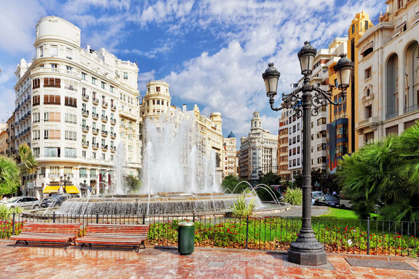 Cityscape of Valencia - third size population city in Spain - Copyright Brian Kinney