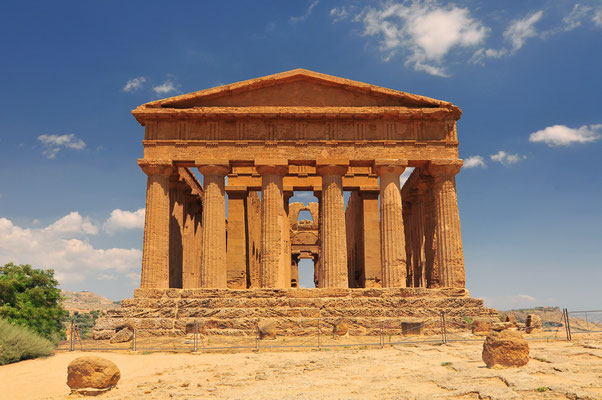 Sicily - European Best Destinations - Temple of Concordia in Sicily Copyright Cezary Wojtkowski