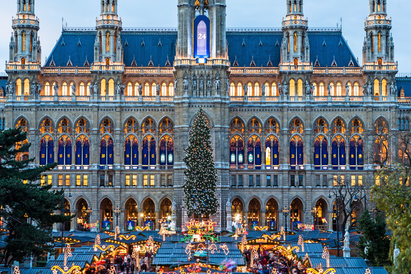 Vienna's City Hall at christmas advent - By Muellek Josef