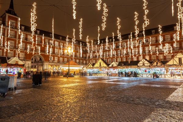 Main square of Madrid illuminated for christmas Copyright Jose Ignacio Soto 2