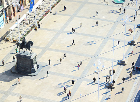 Ban Jelacic Square in Zagreb , Croatia - Copyright joyfull