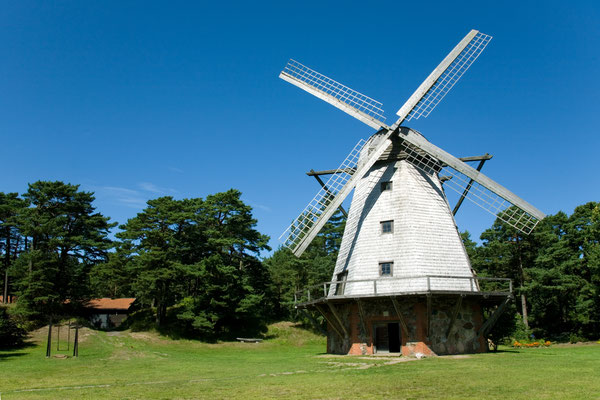 Beautiful windmill at Ventspils, Latvia by zooropa