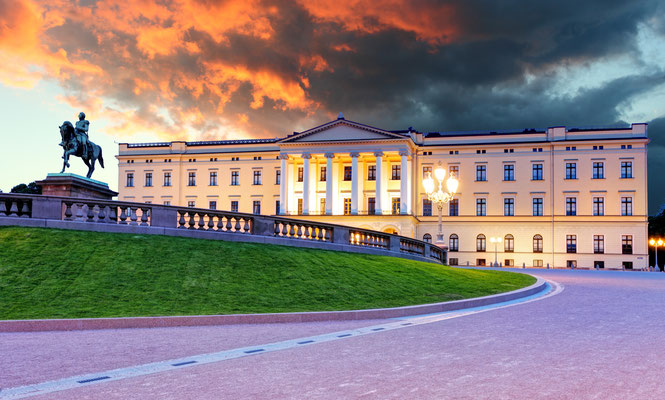 Royal palace in Oslo, Norway Copyright TTstudio