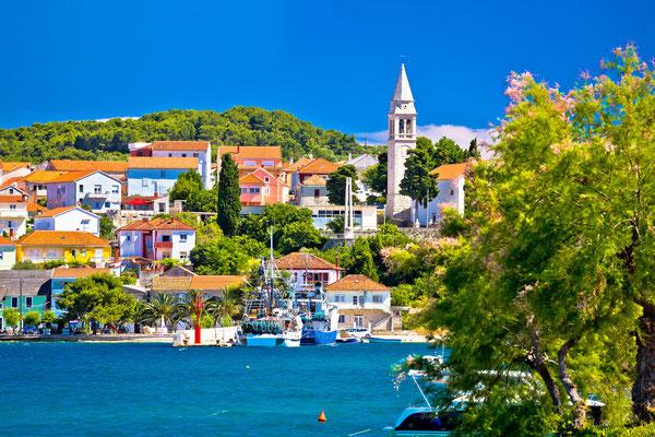 Kali harbor and waterfront summer view, Island of Ugljan, Croatia - Copyright xbrchx