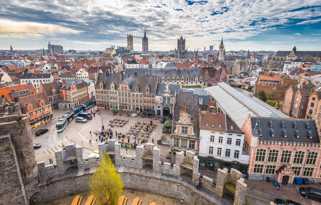 Ghent view from Castle copyright canadastock