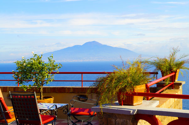 Mount Vesuvius over looked from Sorrento, Italy - Copyright WizardWorks