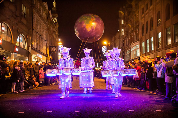 The New Year's Eve Winter Carnival parade in Newcastle - Copyright Visit Britain