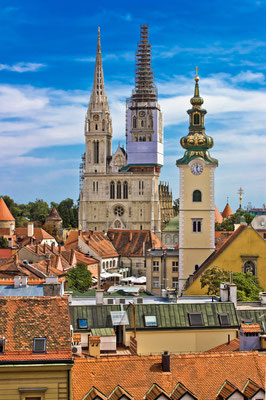 Church towers of Zagreb, capital of Croatia - Copyright xbrchx