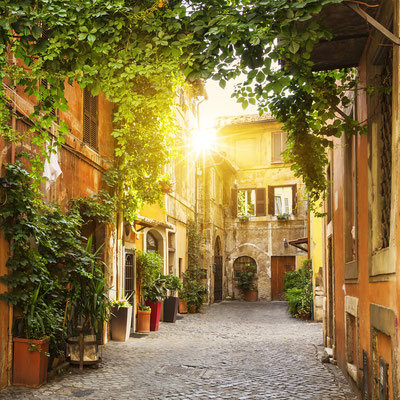 View of Old street in Trastevere in Rome, Italy - Copyright prochasson frederic