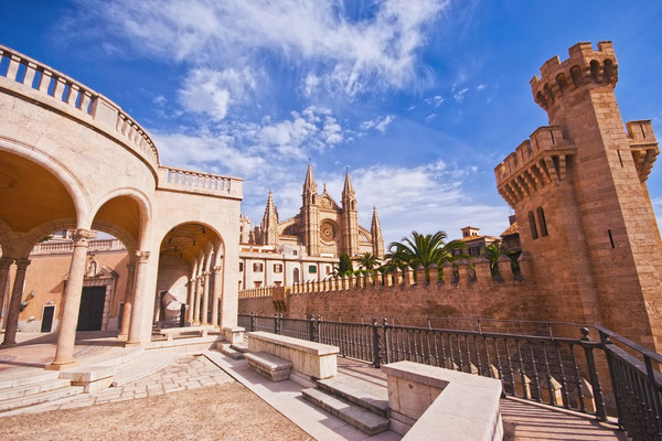 Palma de Mallorca Cathedral and Almudaina castle, Spain by Genova