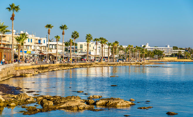 Paphos harbour Cyprus by Leonid Andronov - shutterstock
