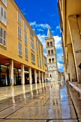 The main street of Zadar after rain, Dalmatia, Croatia - Copyright xbrchx